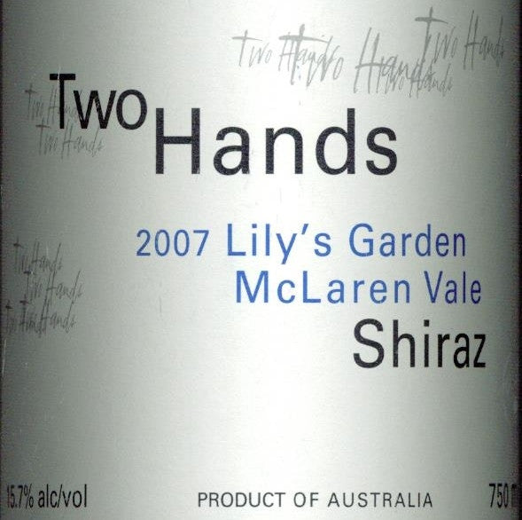 Two Hands Lily's Garden Shiraz 2007 750ml, McLaren Vale