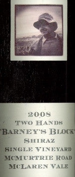 Two Hands Barney's Block Shiraz 2008 Double Magnum 3L, Barossa Valley