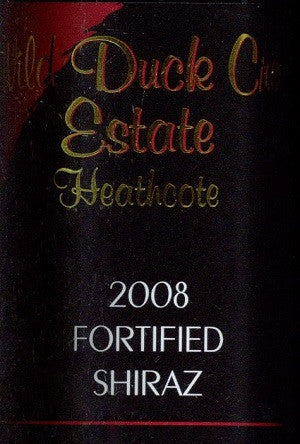 Wild Duck Creek Estate Fortified Shiraz 2008 500ml, Heathcote