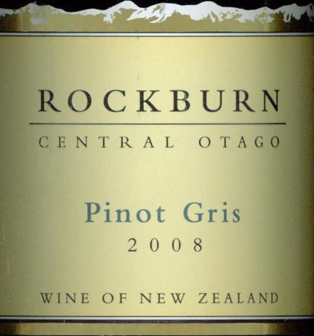 Rockburn Pinot Gris 2008 750ml, Central Otago