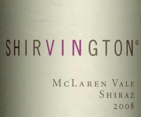 Shirvington Estate Shiraz 2008 1.5L, McLaren Vale