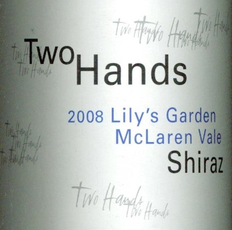 Two Hands Lily's Garden Shiraz 2008 750ml, McLaren Vale