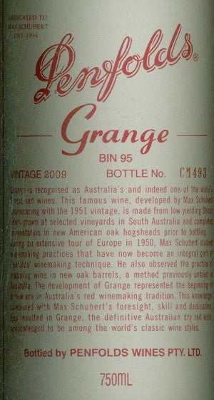 Penfolds Grange Shiraz 2009 750ml, South Australia