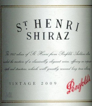 Penfolds St Henri Shiraz 2009 750ml, South Australia