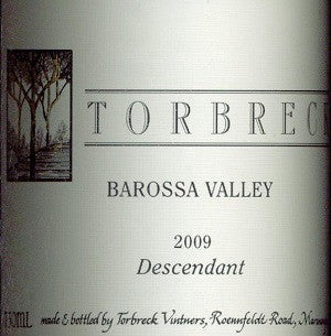 Torbreck Descendant Shiraz Viognier 2009 750ml, Barossa Valley