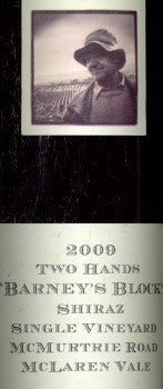 Two Hands Barney's Block Shiraz 2009 1.5L, Barossa Valley