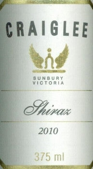 Craiglee Estate Shiraz 2010 375ml, Sunbury