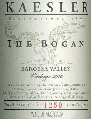Kaesler The Bogan Shiraz 375ml 2010, Barossa Valley