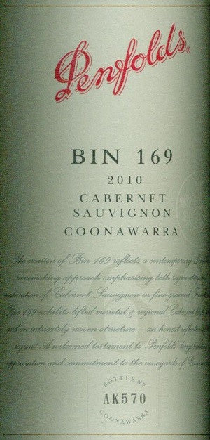 Penfolds Bin 169 Shiraz 2008 750ml, Coonawarra