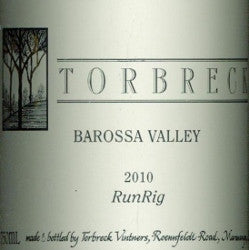Torbreck RunRig Shiraz 2010 750ml, Barossa Valley