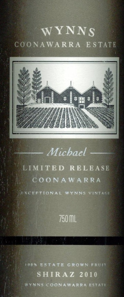 Wynns Michael Shiraz 2010 750ml, South Australia