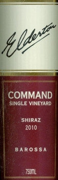 Elderton Command Shiraz 2010 750ml, Barossa Valley