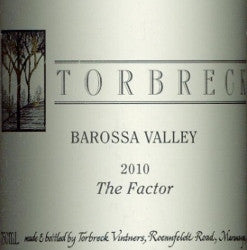 Torbreck The Factor Shiraz 2010 750ml, Barossa Valley