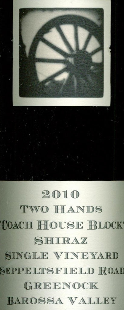 Two Hands Coach House Block Shiraz 2010 750ml, Barossa Valley