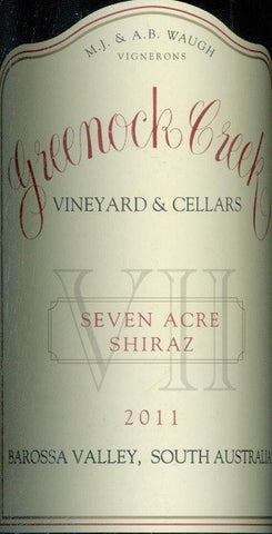 Greenock Creek Seven Acre Shiraz 2011 750ml, Barossa Valley