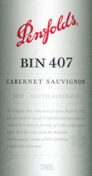 Penfolds Bin 407 Cabernet Sauvignon 2011 750ml, South Australia