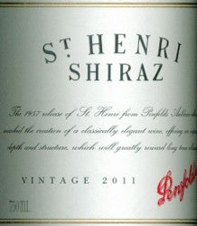 Penfolds St Henri Shiraz 2011 750ml, South Australia