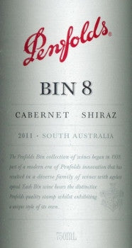 Penfolds Bin 8 Cabernet Sauvignon Shiraz 2011 750ml, South Australia