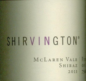 Shirvington Shiraz 2011 750ml, McLaren Vale