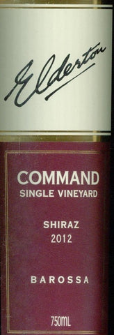 Elderton Command Shiraz 2012 750ml, Barossa Valley
