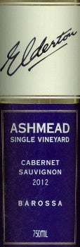 Elderton Ashmead Cabernet Sauvignon 2012 750ml, Barossa Valley