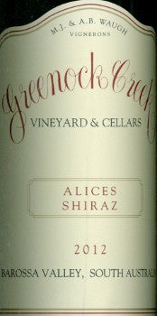 Greenock Creek Alices Shiraz 2012 750ml, Barossa Valley