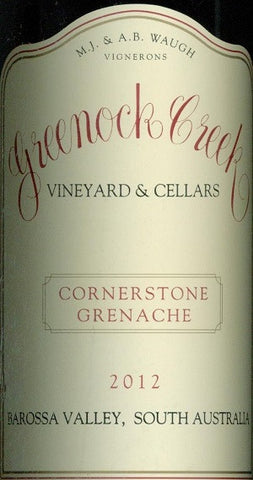 Greenock Creek Cornerstone Grenache 2012 750ml, Barossa Valley