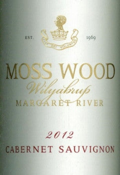 Moss Wood Cabernet Sauvignon 2012 750ml, Margaret River
