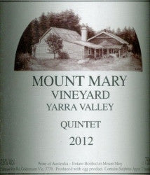 Mount Mary Quintet 2012 750ml, Yarra Valley