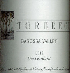 Torbreck Descendant Shiraz Viognier 2012 750ml, Barossa Valley