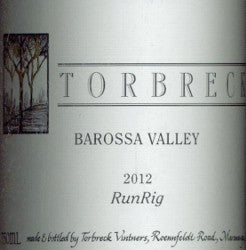 Torbreck RunRig Shiraz 2012 750ml, Barossa Valley