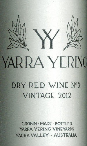 Yarra Yering Dry Red No3 Shiraz 2012 750ml, Yarra Valley
