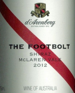 d'Arenberg The Footbolt Shiraz 2012 750ml, McLaren Vale
