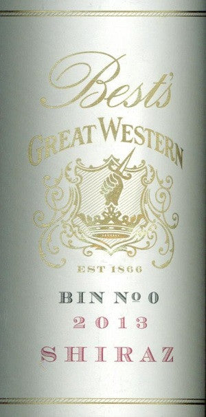 Bests Bin 0 Shiraz 2013 750ml, Grampions