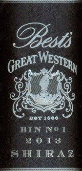 Best's Great Western Bin 1 Shiraz 2013 750ml, Grampians