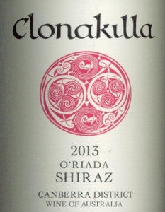 Clonakilla O'Riada Shiraz 2013 750ml, Canberra District