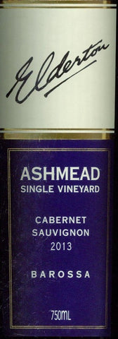 Elderton Ashmead Cabernet Sauvignon 2013 750ml, Barossa Valley