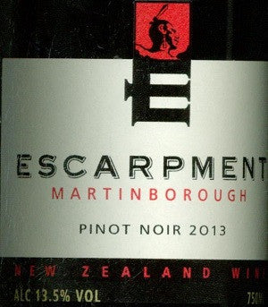 Escarpment Estate Pinot Noir 2013 750ml, Martinborough
