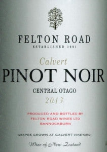 Felton Road Calvert Pinot Noir 2013 750ml, Central Otago