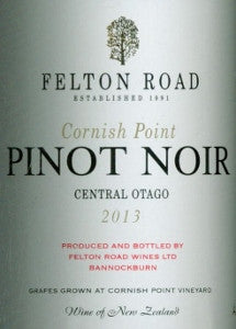 Felton Road Cornish Pinot Noir 2013 750ml, Central Otago