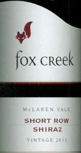 Fox Creek Short Row Shiraz 2013 750ml, McLaren Vale