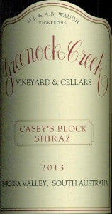 Greenock Creek Casey's Block Shiraz 2013 750ml, Barossa Valley