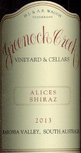 Greenock Creek Alices Shiraz 2013 750ml, Barossa Valley