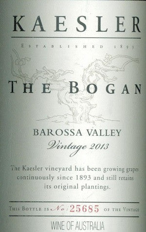 Kaesler Bogan Shiraz 2013 750ml, Barossa Valley