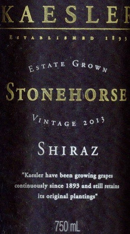 Kaesler Stonehorse Shiraz 2013 750ml, Barossa Valley