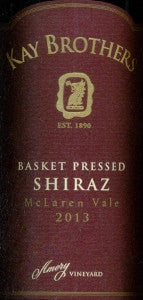 Kay Brothers Basket Pressed Shiraz 2013 750ml, McLaren Vale