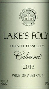 Lake's Folly Estate Cabernets 2013 750ml, Hunter Valley