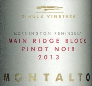 Montalto Main Ridge Block Pinot Noir 2013 750ml, Mornington Peninsula