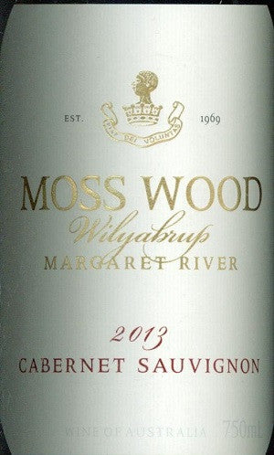 Moss Wood Cabernet Sauvignon 2013 750ml, Margaret River