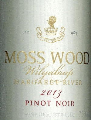Moss Wood Estate Pinot Noir 2013 750ml, Mornington Peninsula